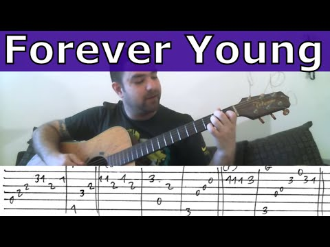 Fingerstyle Tutorial: Forever Young (Alphaville) - Guitar Lesson w/ TAB