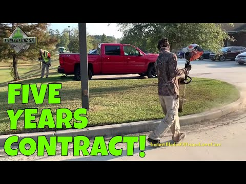 Happy customer leads to a five-year lawn mowing contract