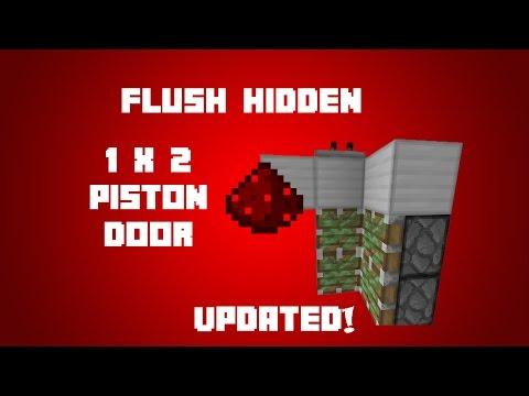 Minecraft how to make a 2x2 secret piston door