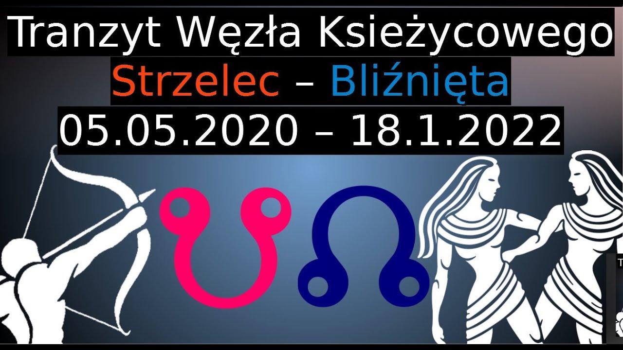 Tranzyt Węzłów Księżycowych w Znakach Strzelca i Bliźniąt.