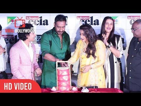 Kajol Gets Surprise Dabba Cake | Kajol Birthday Celebration | Helicopter Eela Trailer Launch