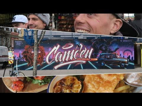 THE LONDON VLOG | CAMDEN TOWN 🇬🇧 Food & Market Tour (Euro Trip Travel Day 5) + Bryson Tiller 2016!