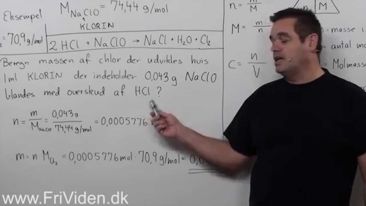 Kemi, udvikling af chlorgas ved Klorin (NaClO)