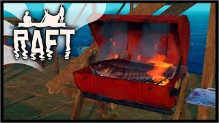 UNLOCKING ALL NEW RESEARCH ITEMS!   Raft Survival Gameplay