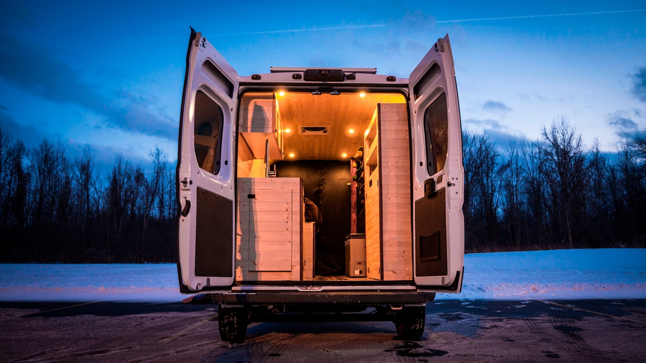 Tiny Home Stealth Camper Conversion Van Built In 180 Hours