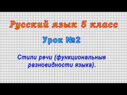 Видеоурок русский язык 5 класс ладыженская