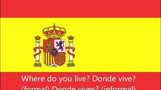 Spanish Phrases: Where do you live?