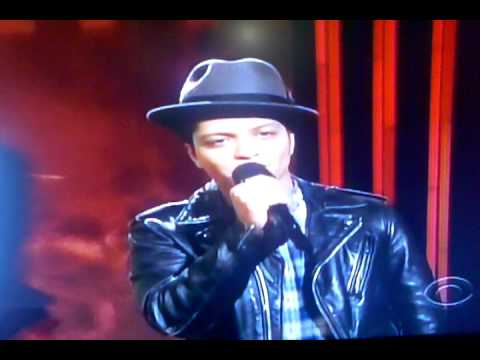 Bruno Mars Announcing The Nominee's for Best New Artist (Grammy Nominee's 2012)