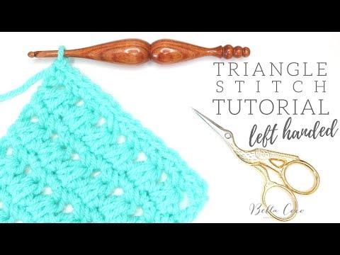 LEFT HANDED CROCHET: Triangle Stitch | Bella Coco