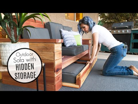 DIY Outdoor Sofa With HIDDEN STORAGE