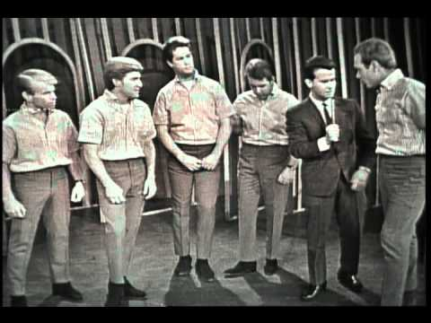 Dick Clark Interviews The Beach Boys - American Bandstand 1964
