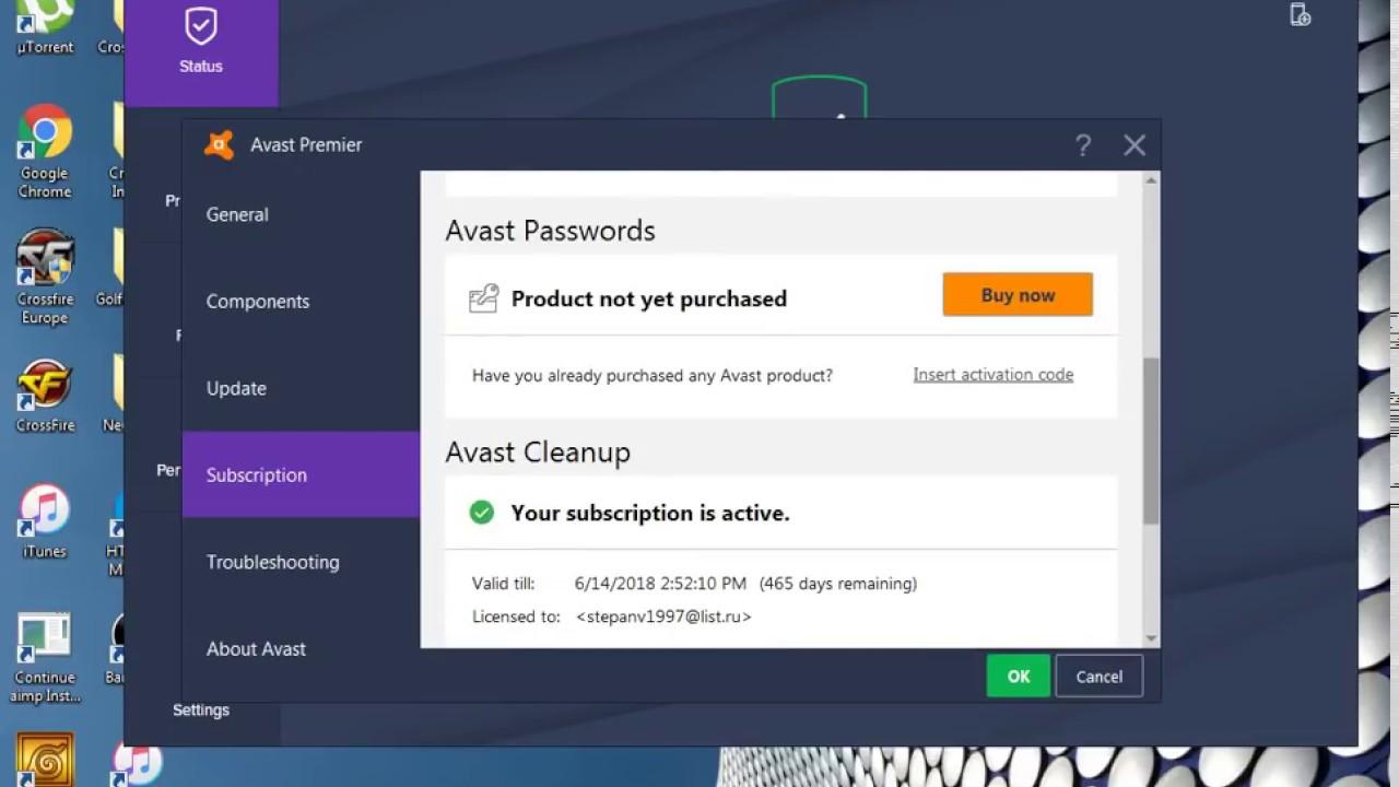Avast Premium & Avast Clean up License keys 100% Working - YouTube