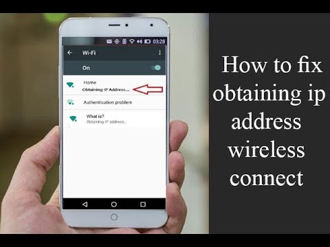 How to fix obtaining ip address wireless connect