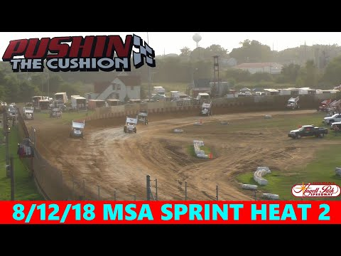 Angell Park Speedway - 8/12/18 - MSA Sprints - Heat 2