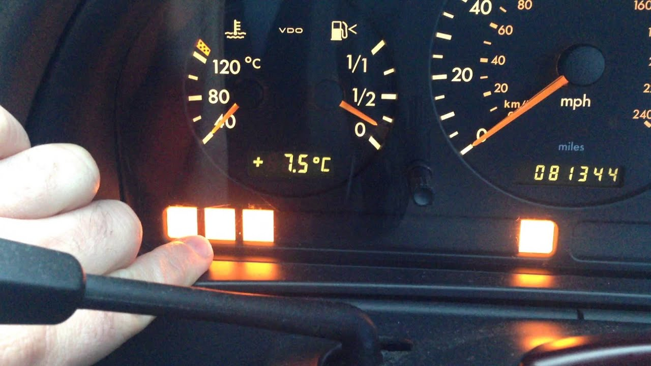 Bas esp ets abs epc warning light problem youtube for Mercedes benz dashboard lights not working