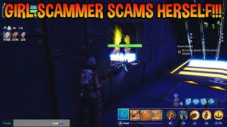 Girl Scammer Scams Herself! (Scammer Gets Scammed)Fortnite Save The World!