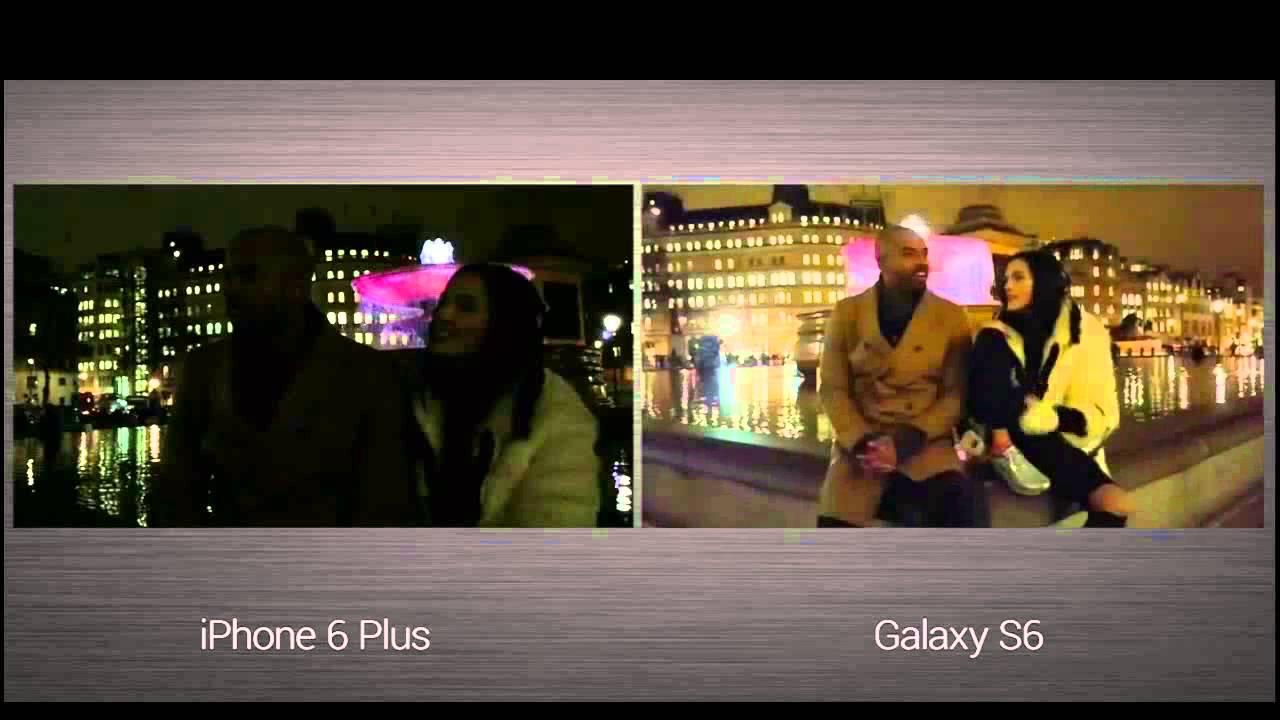 iphone 6 vs galaxy s6 camera