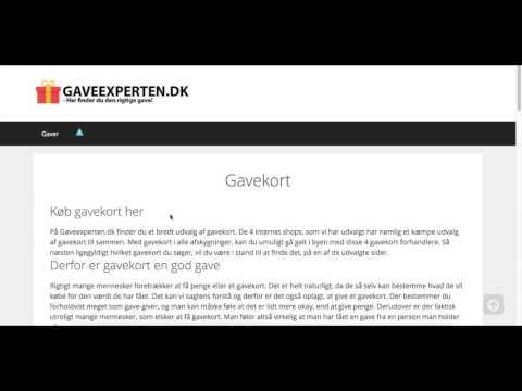 Gavekort → Få overblikket over de bedste steder at købe gavekort online   Gaveexperten.dk