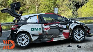 Seb Ogier Involved in Accident on Public Road - WRC Croatia Rally 2021