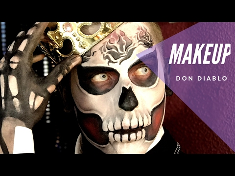 MakeUp Don Diablo (Productos Kryolan) - YouTube
