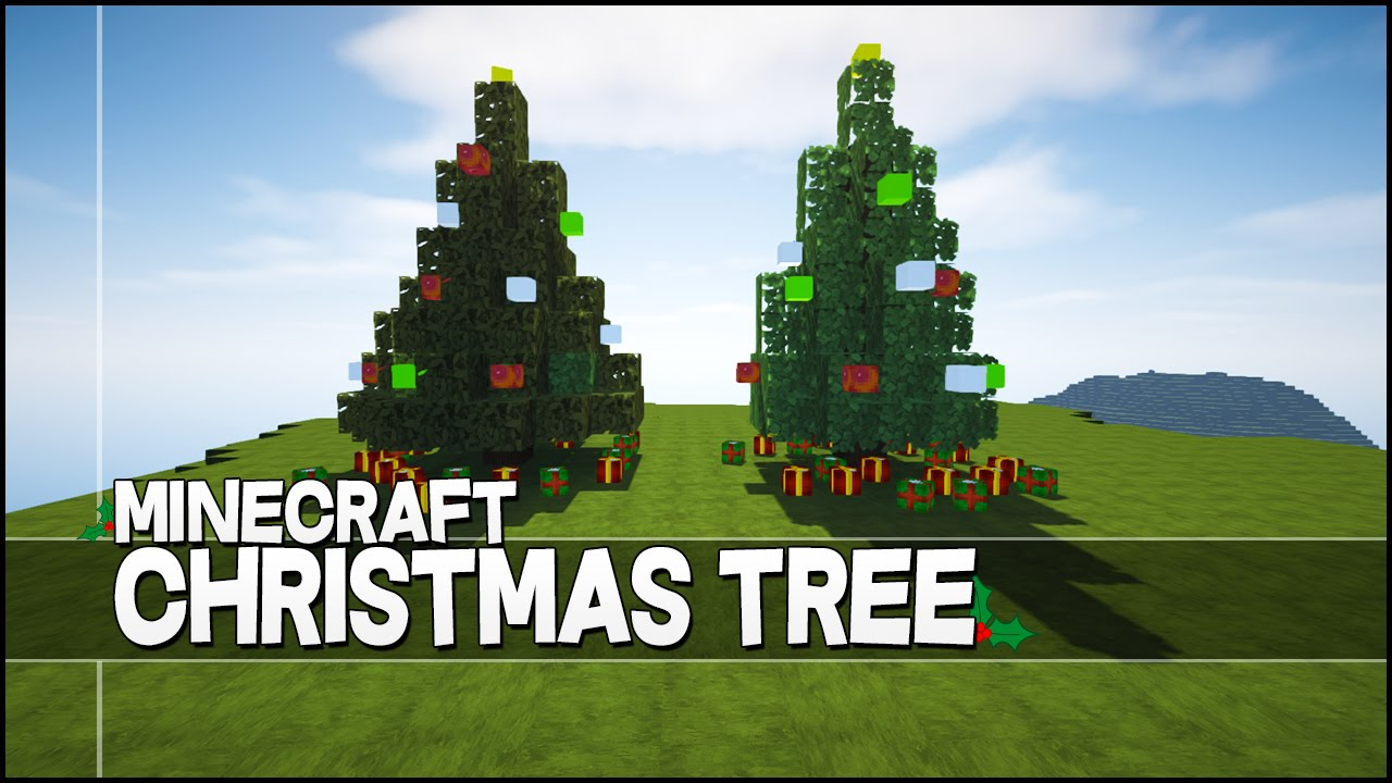 Minecraft Christmas Tree.Minecraft How To Make A Christmas Tree