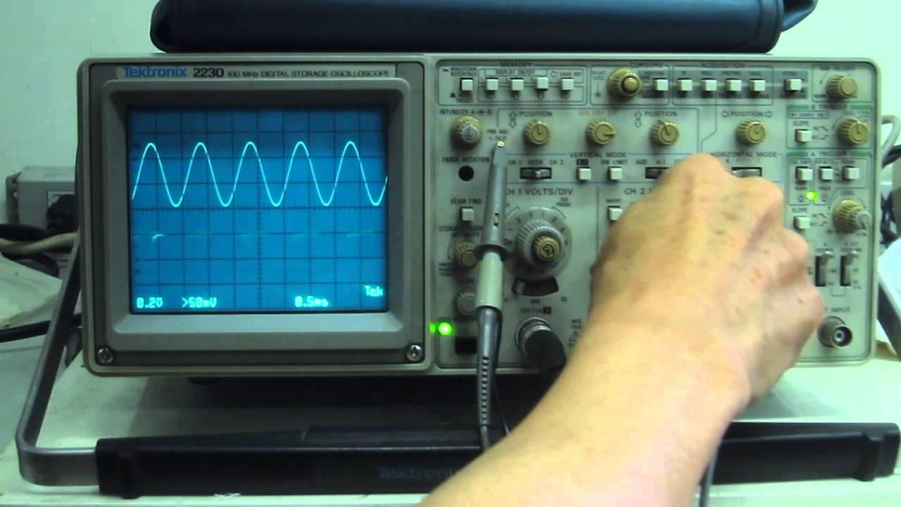 Digital Oscilloscope Basics : Tektronix digital storage oscilloscope 動作確認 doovi