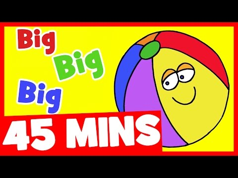 Big Big Big Adjectives Song and More | 45mins Songs Compilat