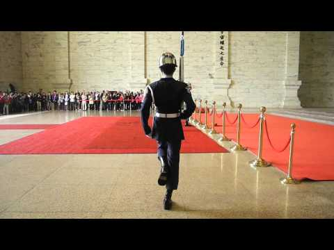 Marching at Chiang Kai-shek Memorial Hall