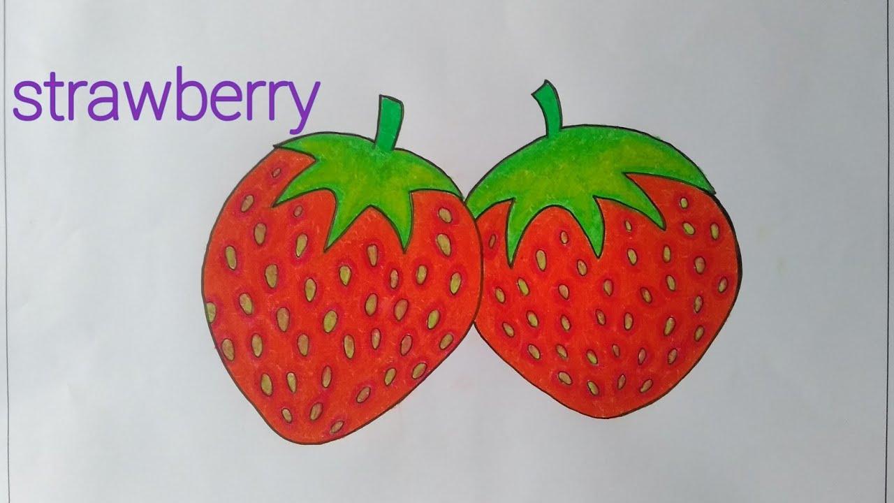 Cara Menggambar Buah Strawberry Cara Menggambar Buah Buahan