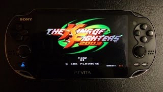 The King of Fighters 2003 game on PlayStation Vita!  [HD]