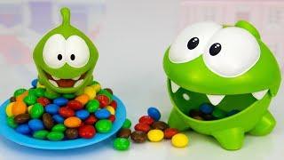 Ам Ням і Ам Нямчик шукають шоколадні цукерки. Мультики для дітей.
