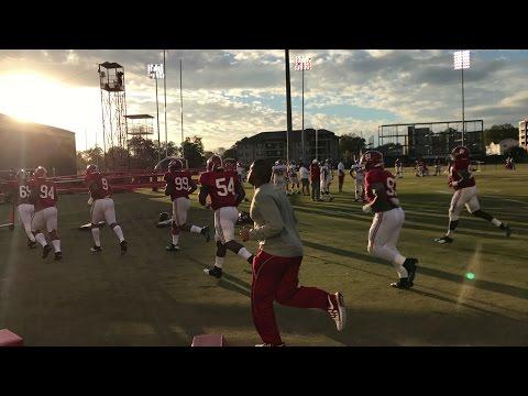 Inside Alabama football practice for Iron Bowl