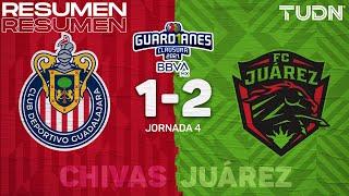 Resumen y goles | Chivas 1-2 FC Juárez | Torneo Guard1anes 2021 BBVA MX - J4 | TUDN