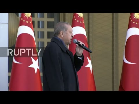 LIVE: Erdogan speaks to supporters in Ankara day after referendum