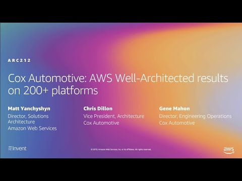 AWS re:Invent 2019: Cox Automotive: AWS Well-Architected Results on 200+ platforms (ARC212-R1)