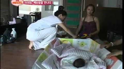 [BABYARD]휴대용원터치아기침대 방송편집용