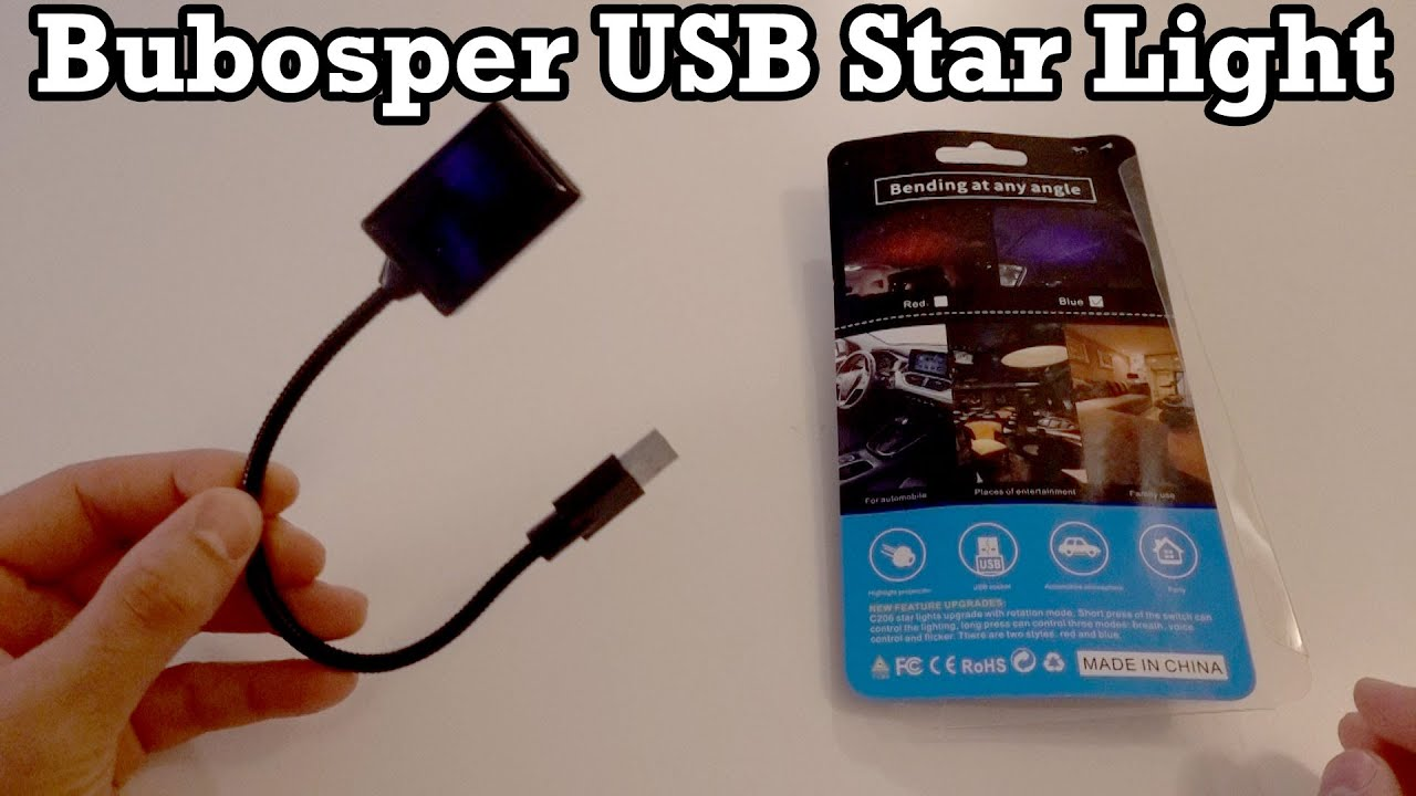 Bubosper USB Star Light Unboxing Setup Review Blue Laser