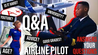 Airline Pilot Q&A with FlyJV - PILOT Answers Your Questions - Life as a Pilot?