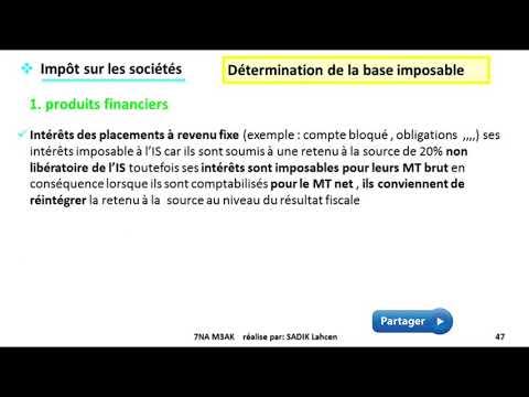 #EP 7 fiscalisé: impôts sur les sociétés (produit non imposable)| 2/5
