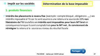 #EP 7 fiscalisé: impôts sur les sociétés (produit non imposable)  2/5