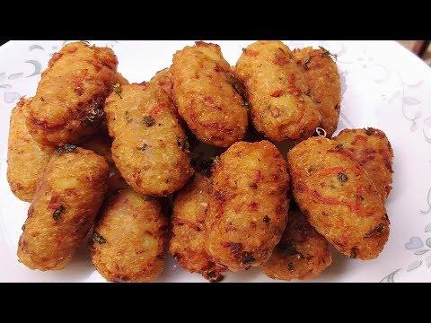 पोहा का इतना आसान और कुरकुरा नाश्ता झटपट बनाये   Poha Ke Pakode/Poha Cutlet Recipe Hindi  Easy Nasta