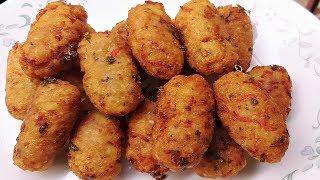 पोहा का इतना आसान और कुरकुरा नाश्ता झटपट बनाये | Poha ke Pakode/Poha Cutlet Recipe Hindi| Easy Nasta