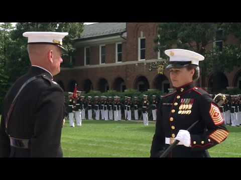 U.S. Marine Barracks First Female Sgt Major Takes the Helm