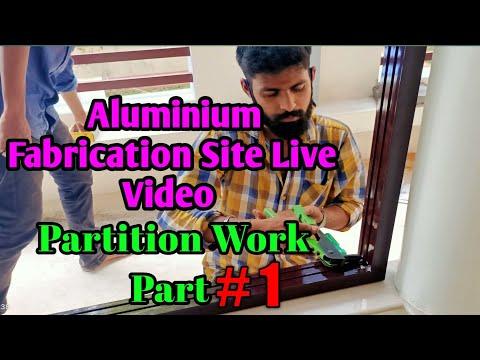 Part #1 Aluminium Fabrication Site Live Video Partition  #Partition #Aluminium #Fabrication