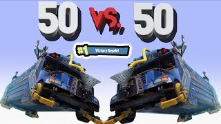BATTLE BUS VS BATTLE BUS / NEW FORTNITE 50 VS 50 MODE!