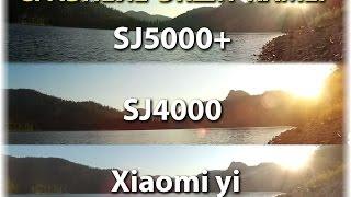 Сравнение Sj4000 vs Sj5000 plus vs Xiaomi yi | Обзор Китайских Экшн камер