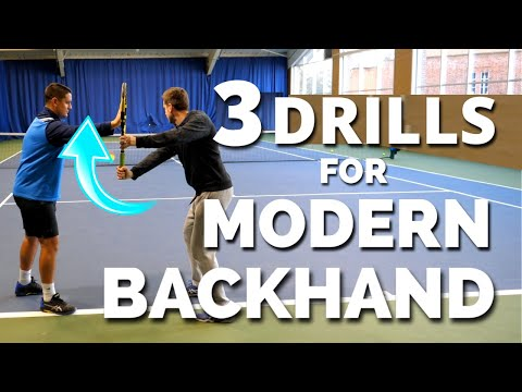 3 Drills For Modern One Handed Backhand in Tennis - Thiem Wawrinka Federer Backhand Technique