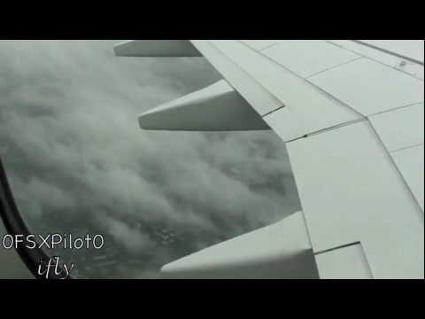 Take Off at Düsseldorf 23L (very bad weather) 738 Air Berlin