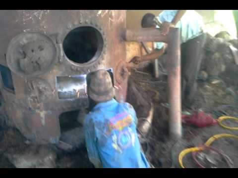 Pioneer shell Steam Boiler repair at Item Agri