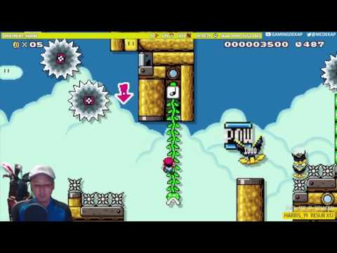 Super Mario Maker – Do or Die On Cloud Vine (Expert Level)